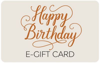 Happy Birthday Text E Gift Card 45 00 In 2019