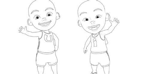 Wow 10 Gambar Kartun Hitam Putih Upin Ipin Gani Gambar Kartun Gambar Kartun Gambar