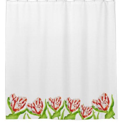 Tulip Estella Rijnveld On A Shower Curtain Zazzle Com Custom Shower Curtains Curtains Custom Shower