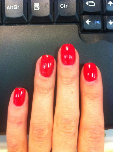 CND Shellac Wildfire looks like the perfect red!