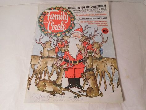 Family Circle Magazine Christmas 1963 Gyo Fujikawa Illustrations Vintage Decor