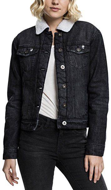 Urban Classics TB1740 Ladies Sherpa Denim Jacket, klassische
