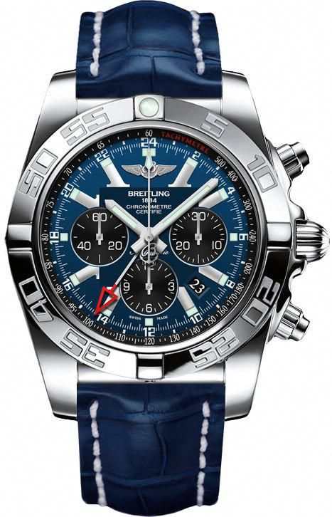AB041012/C835-747P BRAND NEW Breitling Chronomat GMT Mens Blue COSC Chronograph Watch - Lowest Price Guaranteed 100% Authentic FREE Overnight Shipping #breitlingwatches