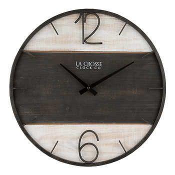 La Crosse Ironwood 15 75 Wall Clock Wall Clock Clock Rustic Wall Clocks