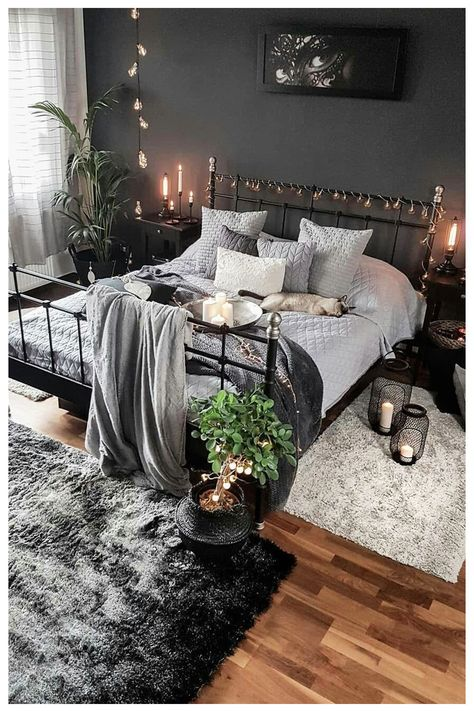 Gothic Bedroom - When you are looking for timeless design and create an emotional sign, nothing is better than the gothic style.    #bedroom #victorian #gothic #beddecor #bedmaster #darkbedroom   #gothicbedroom #bedroomideas