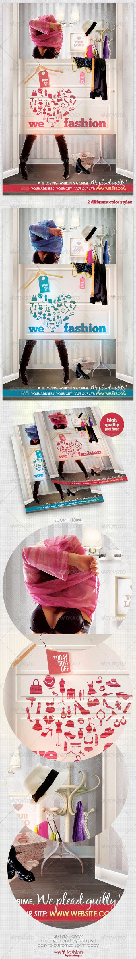 We Love Fashion Flyer Template / $6. ****This flyer is perfect for the promotion of Shops/Boutiques, Sales/Promotions, Fashion Shows, New Collections or whatever you want!.***