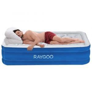 Raygoo Air Mattress Twin Size Airbed Luxury Raised Inflatable Mattress Air Mattress Inflatable Mattress Inflatable Air Mattress