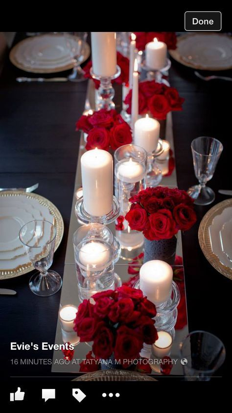 32 Trendy Wedding Table Red Roses Centerpieces