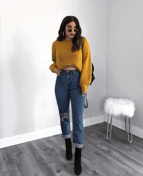 Como atualizar o look com mom jeans - Guita Moda