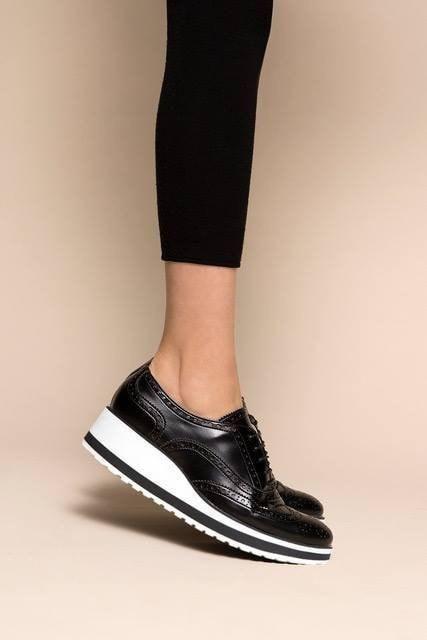 Vegan shoes, Oxford platform shoes
