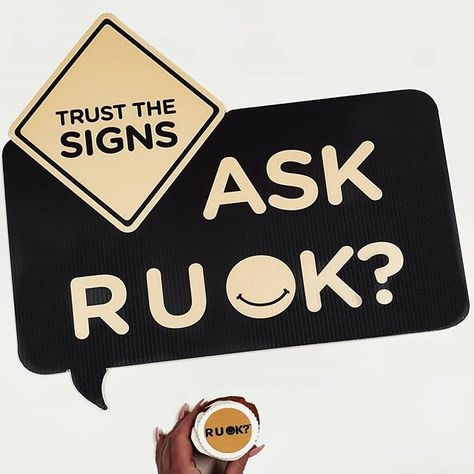 """R U OK? By starting a meaningful conversation reaching out & checking in if you notice a change or feel something's not quite the same about someone you know could make the world of difference. Trust your instinct & take the time to ask """"Are you OK?"""" Those 3 simple words could change a life  #showyoucare Visit ruok.org.au for more information & resources today.  #RUOKTrustTheSigns #RUOK #TrustTheSigns #RUOKDay @ruokday . . . . . . . . . . . . . . . . #ruok2019 #mentalhealthawareness #mentalhealt"""