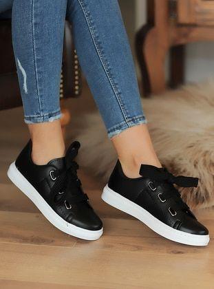 حذاء كاجوال أبيض أسود أحذية كاجوال Sperry Sneaker Sneakers Shoes