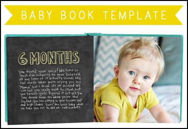 Chalkboard Baby Book Template » HANNA MAC | Baby Book to Make ...