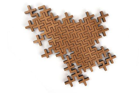 Plus 022 Puzzle - Wooden geometric jigsaw puzzle