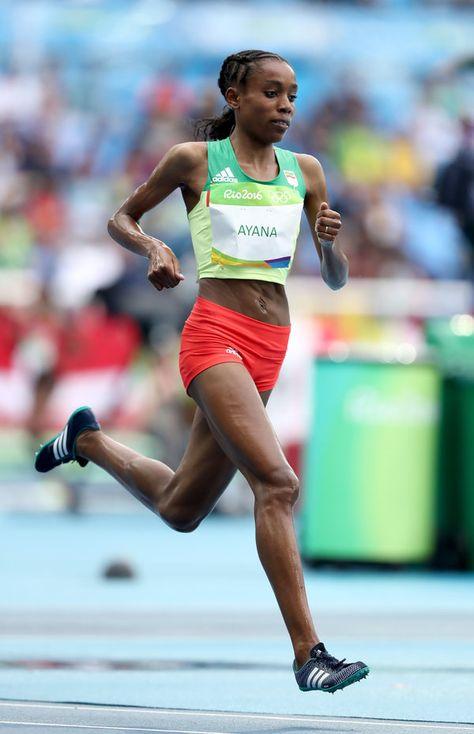 Alma Ayana, Ethiopia, 24. 10,000 meteres race.