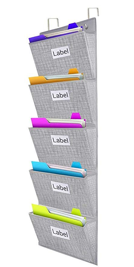 25e18f42fd89 Hanging Wall Mounted Files Organizer, Over The Door Storage Folders ...