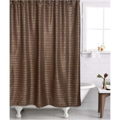 Famous Home 2 Piece Modena Shower Curtain And Liner Set In Bronze