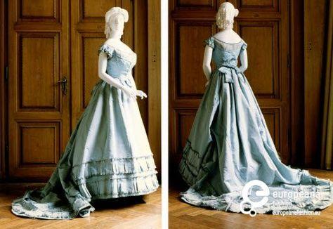 1865___ ballkleid (mit taille für den tag). wien museum