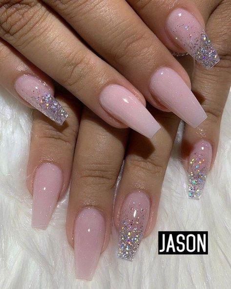 Sparkle nail tips videos #nailtipstutorial