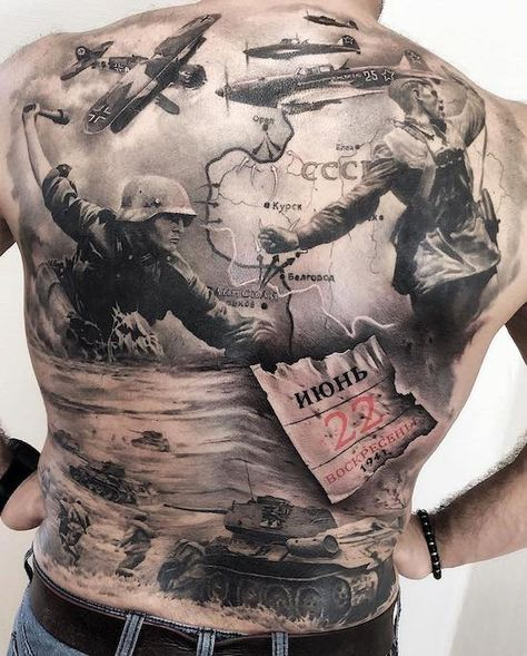 Would you get your full back tattooed ? This incredible work by