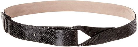 Brunello Cucinelli Python-Embossed Leather Belt