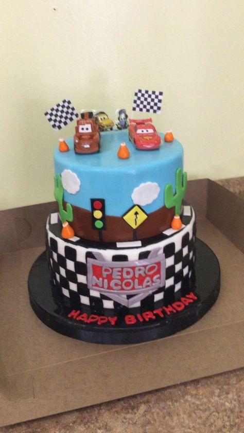The cars birthday cake.