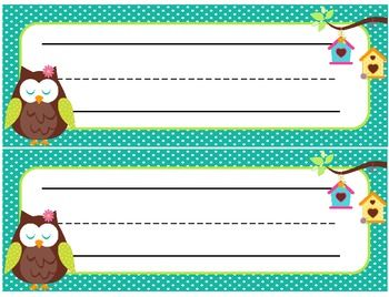 FREE Bird Name Plate Printables Free Printables Pinterest - Cubby name tag template