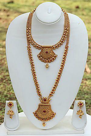 cada089f5f905 Craftsvilla Unique Design Maroon Necklace Set | Jewellery | Necklace ...