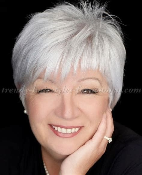 Image Result For Short Hairstyles For Grey Hair Women Over 50 Courthairstylesforwomen Hair Styles Short Hairstyles Over 50 Thick Hair Styles