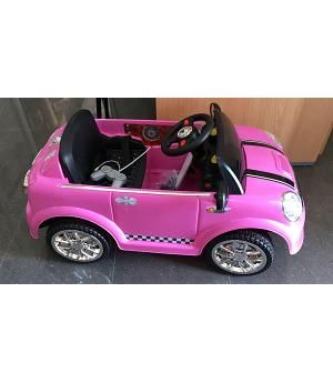 Coche Mini Mini Rosa 6V con Mando RC. SCH937