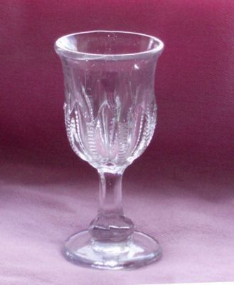 Victorian Ribbed Tulip Glass Rd, Small Tulip Glass