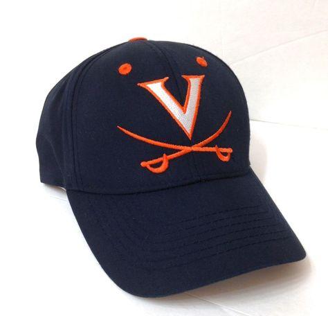 18d226f90a659 VIRGINIA CAVALIERS HAT Dark Navy Blue Orange White Letter V Logo Men Women  Cavs  CaptivatingHeadgear  VirginiaCavaliers