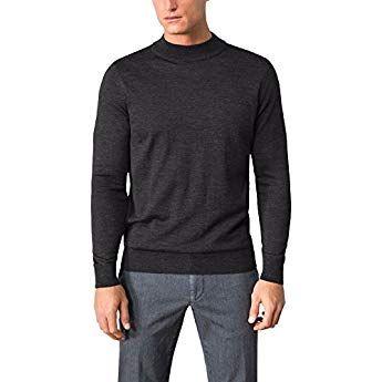 Walbusch Herren Merino Mix Stehbund Pullover einfarbig