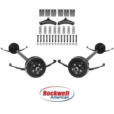 Tandem 3 500 Lb Electric Brake Trailer Axle Kit 7 000 Lb Capacity 95 80 Ebay Trailer Axles Axle Tandem