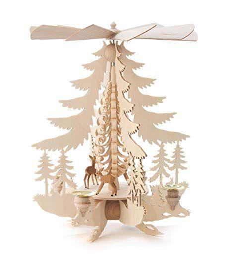 Weihnachtsdeko Seiffen.Affiliate Dregeno Seiffen Pyramide Mit Rehen Für Kerzen Holz