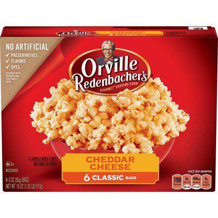 Orville Redenbacher S Cheddar Cheese Popcorn Microwave Popcorn 3 29 Oz 6 Ct Walmart Com Cheddar Cheese Cheese Popcorn Cheddar