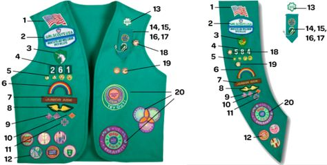 Uniform Guide Girl Scout Badges Girl Scout Sash Junior Girl Scout Badges