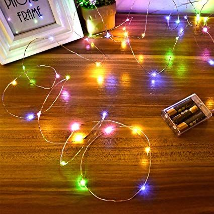 Amazon Com Ariceleo Led Fairy Lights Battery Operated 1 Pack Mini Battery Powered Copper Wire With Images Copper Wire Fairy Lights Led Fairy Lights Fairy Lights Bedroom