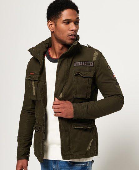 Superdry Rip & Repair Rookie Military Jacket   Mens fashion