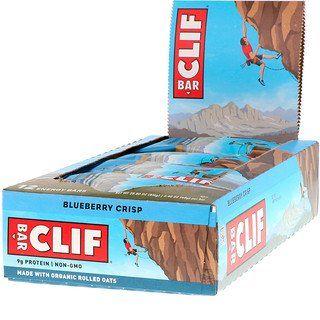 Clif Bar Energy Bar Blueberry Crisp 12 Bars 2 40 Oz 68 G Each In 2020 Clif Bars Energy Bars Blueberry Crisp