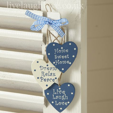 Set of 3 Inspirational Hanging Hearts