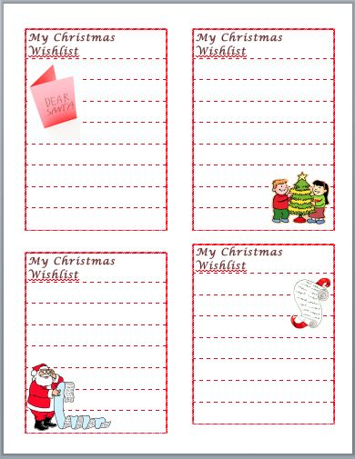 Christmas Wish List Template Template Pinterest Template - christmas list templates
