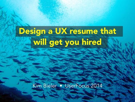 In this talk I illustrate with examples common pitfalls in UX - ui ux resume