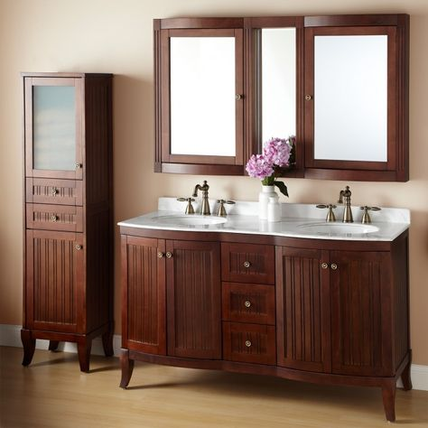 White Top Vanity Set Double Vanity Basement Bathroom Design