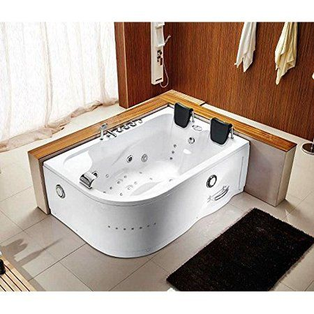 71 X 47 Corner Bathtub With 12 Whirlpool Massage Jets Shower Wand Waterfall Faucet Fm Radio Walmart Com Whirlpool Hot Tub Jacuzzi Bathtub Jetted Bath Tubs