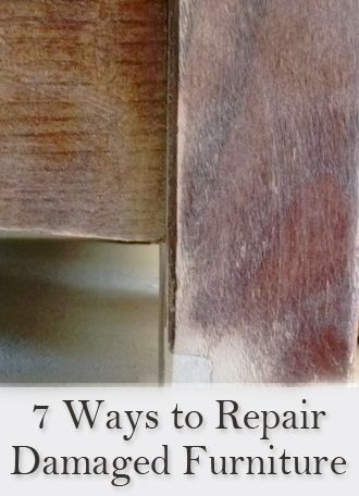 7 Easy Ways To Repair Damaged Wood Furniture | Wood Furniture, Woods And  Easy