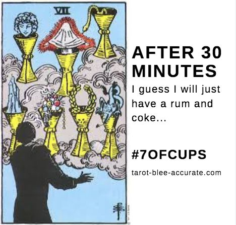 When there are so many options you end up more confused than when you started!   #7ofcups #sevenofcups #tarotmeme #tarotlesson #tarotcardmeaning #learningtarot #cupscards #confusion #choices #options #rumandcoke  #tarotbleeaccurate #tarot #mpls #psychic #🔮#spirituality   #tarotcards #picoftheday #cardoftheday #tarotcardreadersofinstagram #tarotcommunity