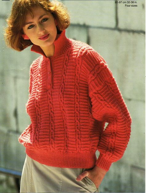 0c99798f7da77e Knitting Pattern Ladies   Women s Cable Lace Pattern Mohair Sweater   Jumper  Size 32-38in 81-97cm