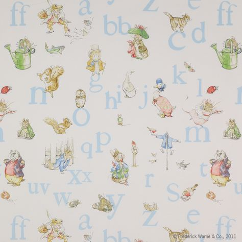 Alphabet Beatrix Potter ™ Fabric - Jane Churchill Product Library