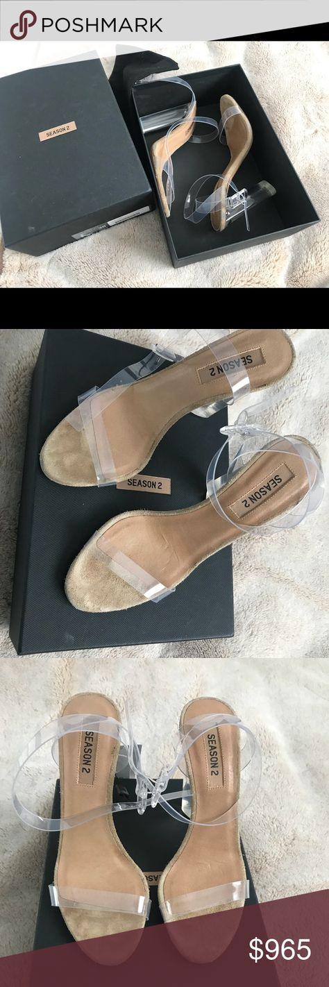 eb6c97fea YEEZY Season 2 PVC clear heel sandals LUCITE 38 YEEZY Season 2 clear heel  sandals Colour